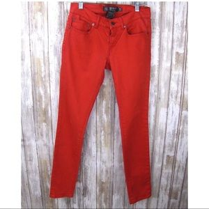 Ralph Lauren Rugby 26 Skinny Low Rise Red Jeans